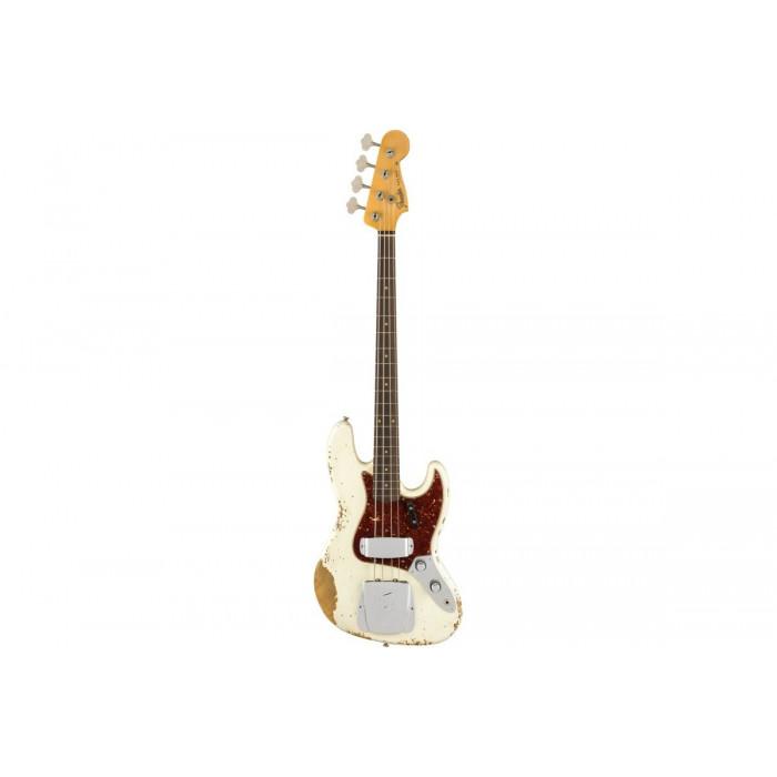 Fender Custom Shop 1961 Jazz Bass Heavy Relic Olympic White