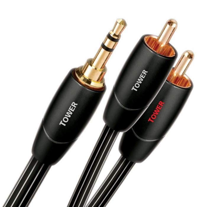 Аналоговый межблочный кабель AudioQuest Tower 2.0m 3,5 > RCA