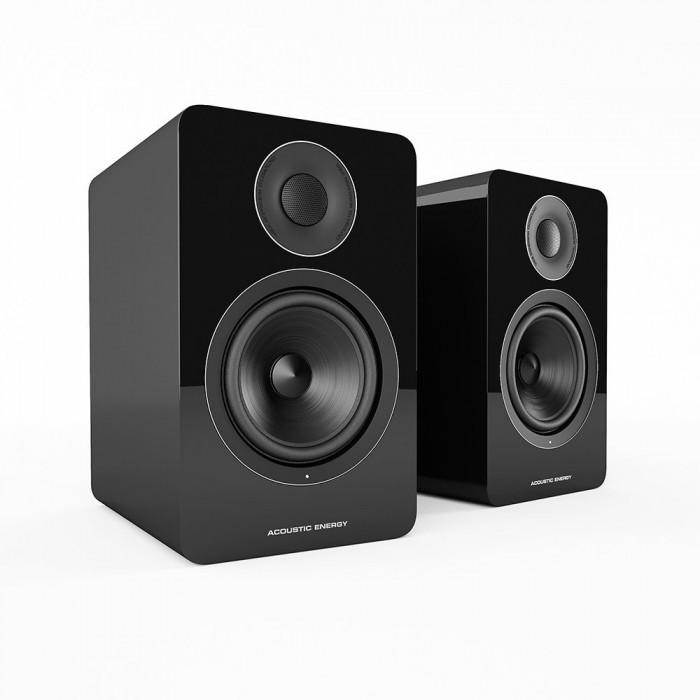 Активная полочная акустика Acoustic Energy AE 1 Active Piano Black + стойки
