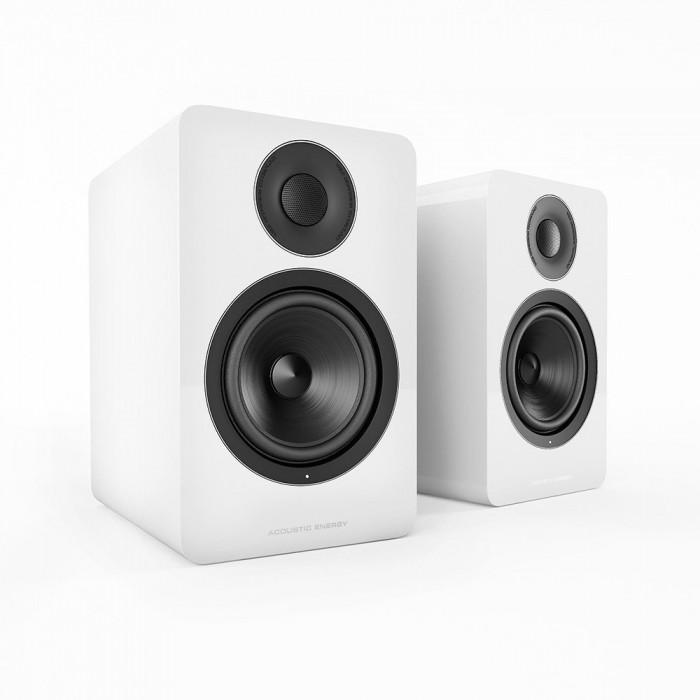 Активная полочная акустика Acoustic Energy AE 1 Active Piano White + стойки