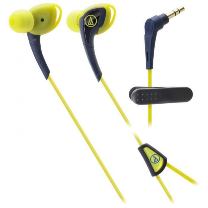 Наушники-вкладыши Audio-Technica ATH-SPORT2YP Yellow