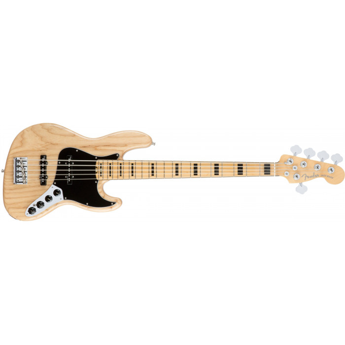 Бас-гитара Fender American Elite Jazz Bass V Ash Mn Natural
