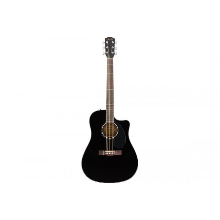 Электроакустическая гитара Fender CD-60SCE BLACK WN
