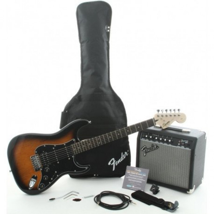 Гитарный Набор Squier By Fender Squier Strat Pack Hss Brown Sunburst