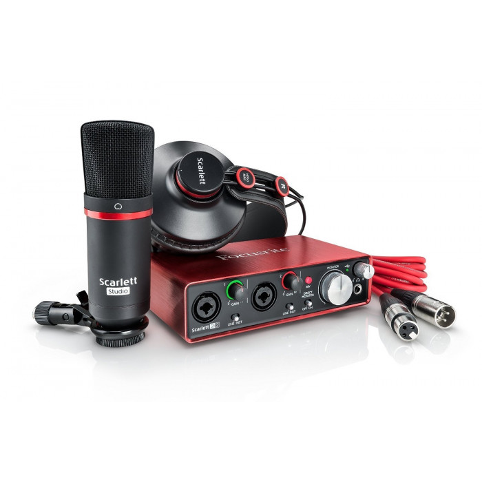 Комплект для звукозаписи Focusrite Scarlett 2i2 Studio