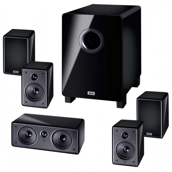 Комплект акустики 5.1 HECO Music Colors Cinema 5.1A Black Gloss