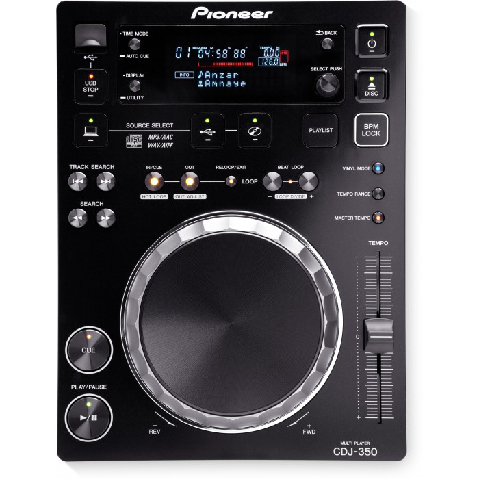 DJ CD проигрыватель Pioneer DJ CDJ-350 Black