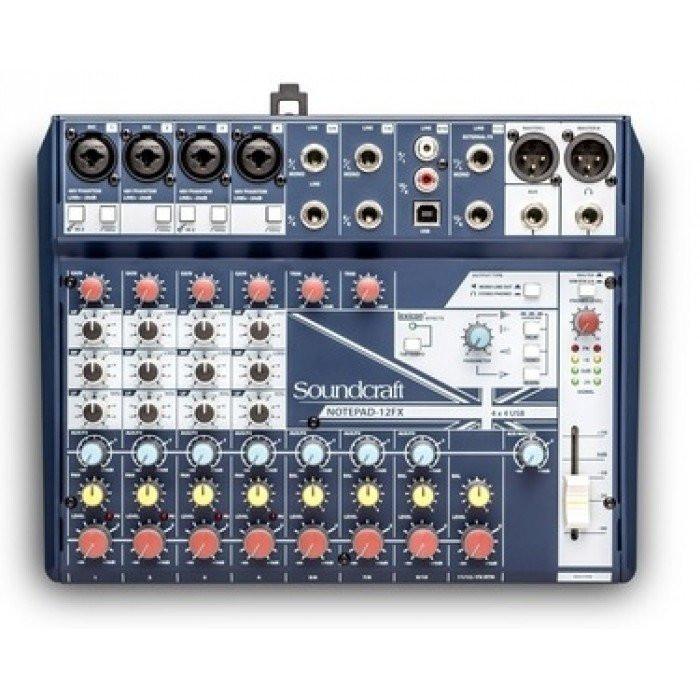 Пассивный микшерный пульт Soundcraft Notepad-12FX