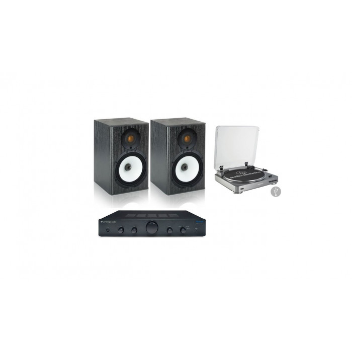 Стереокомплект Monitor Audio MR1+Audio-Technica AT-LP60USB+Cambridge Audio Topaz AM5