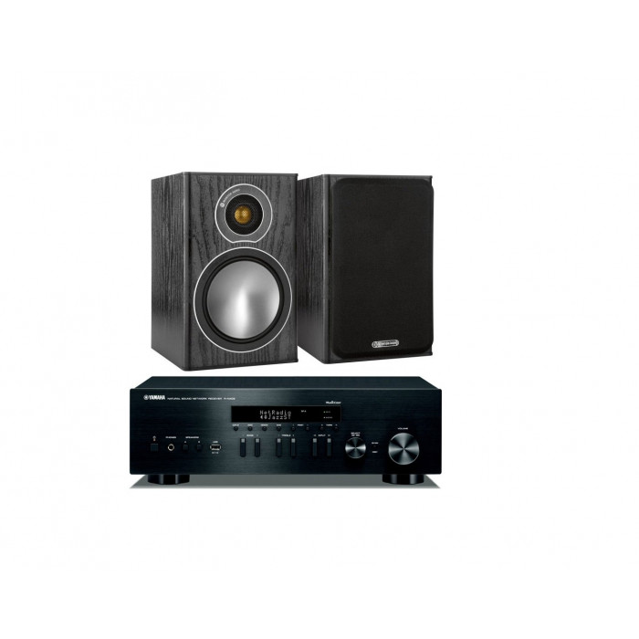 Стереокомплект Monitor Audio Bronze 1+Yamaha R-N402D