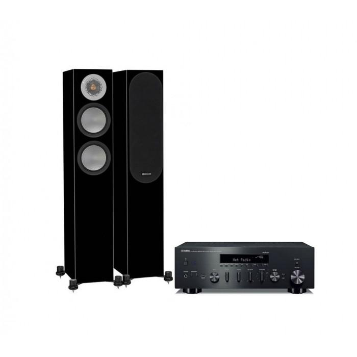 Стереокомплект Monitor Audio Silver 200+Yamaha R-N602D