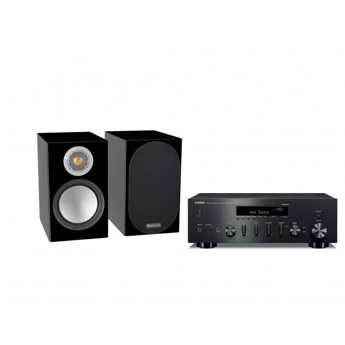 Стереокомплект Monitor Audio Silver 50+Yamaha R-N602D