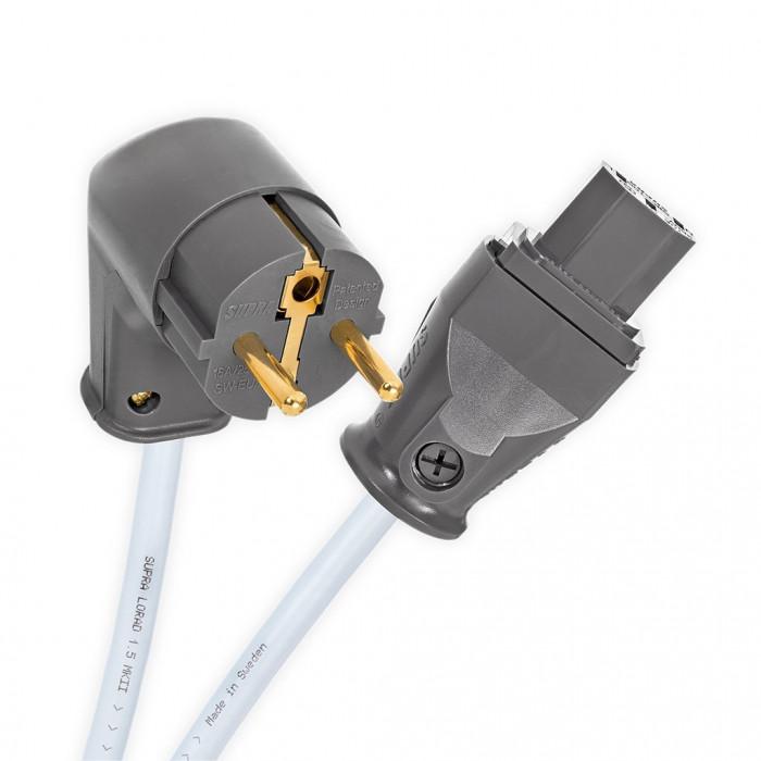 Силовой кабель Supra Lorad 2.5 Spc Cs-Eu/Angled 1M
