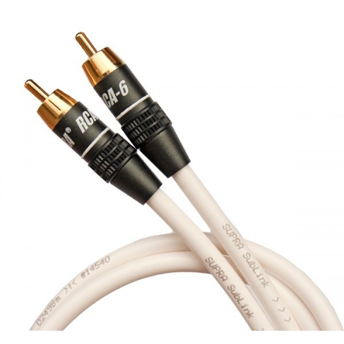 Сабвуферный кабельSupra Sublink 1RCA-1RCA White 6M