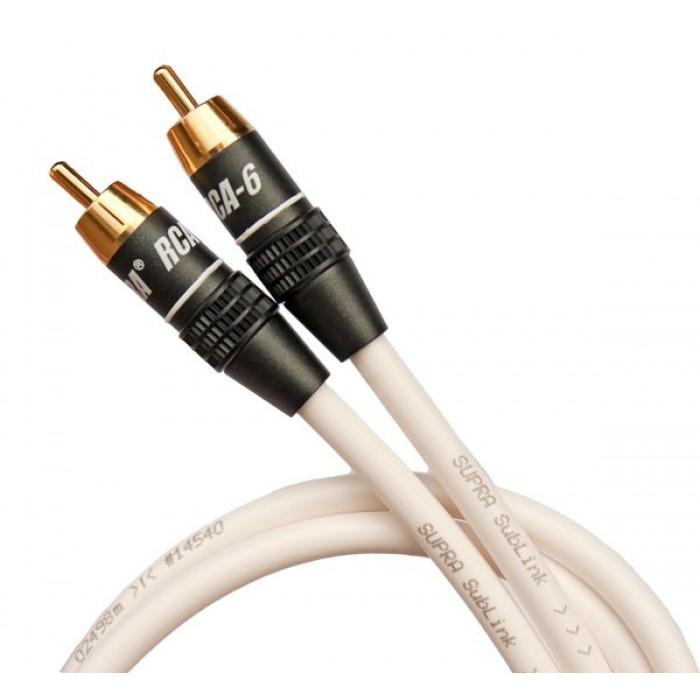 Сабвуферный кабельSupra Sublink 1RCA-1RCA White 4M