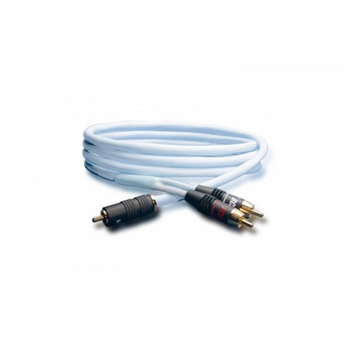 Сабвуферный кабель Supra Y-Link 1RCA-2RCA Blue 4M