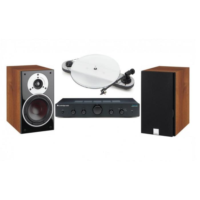 Стереокомплект Pro-Ject ELEMENTAL PHONO USB+Cambridge Audio TOPAZ AM5+DALI ZENSOR 1