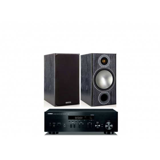 Стереокомплект Monitor Audio Bronze 2+Yamaha R-N402D